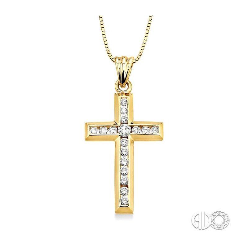Lovebright Collection Jewelry CHANNEL SET DIAMOND CROSS PENDANT