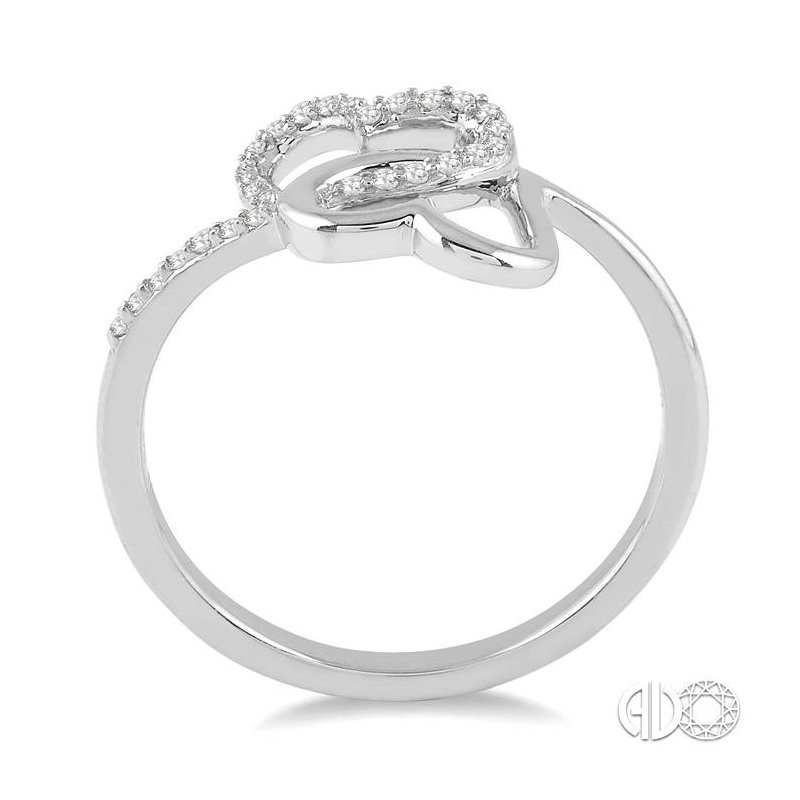 Lovebright Collection Jewelry TWIN HEART DIAMOND RING