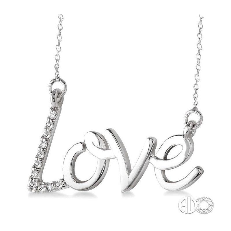 Lovebright Collection Jewelry SILVER LOVE DIAMOND PENDANT