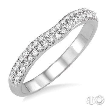TWO ROW DIAMOND WEDDING BAND