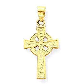 14k Reversible Celtic Cross Pendant