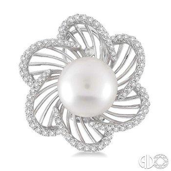 FLOWER SHAPE GEMSTONE & DIAMOND EARRINGS