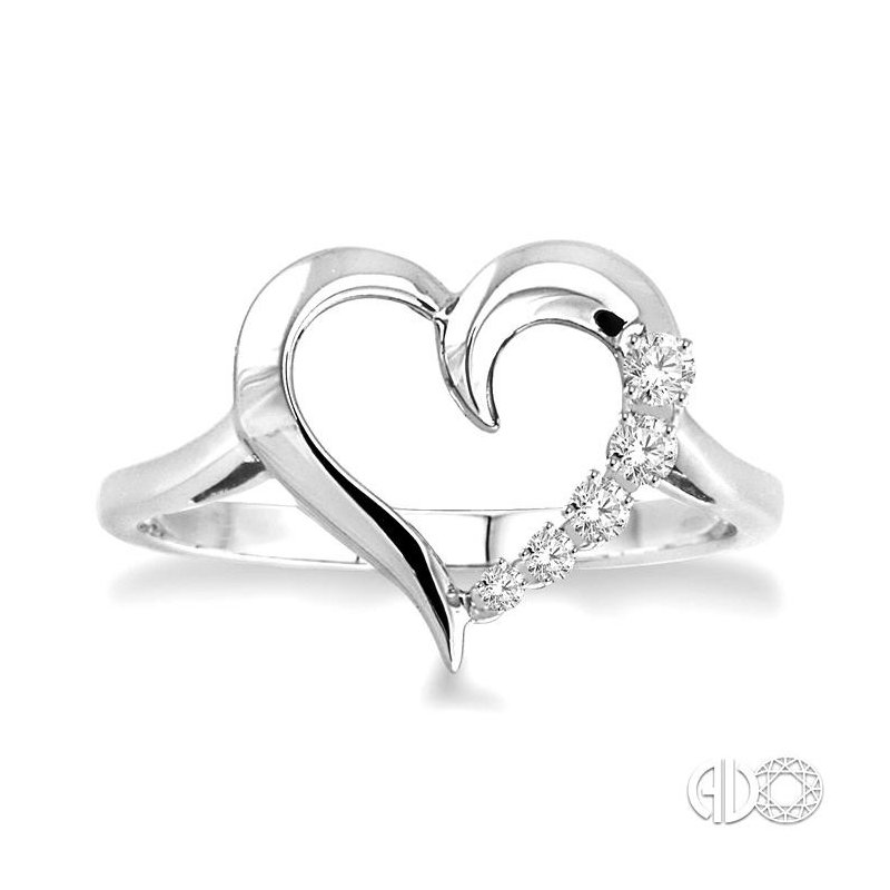 Lovebright Collection Jewelry SILVER JOURNEY HEART DIAMOND RING