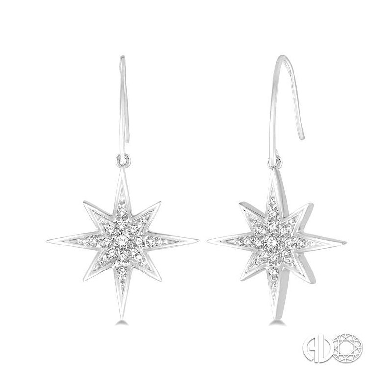 Lovebright Collection Jewelry STAR DIAMOND EARRINGS