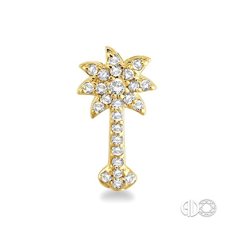 Lovebright Collection Jewelry PALM TREE DIAMOND EARRINGS