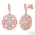Lovebright Collection Jewelry FLOWER SHAPE LOVEBRIGHT DIAMOND EARRINGS
