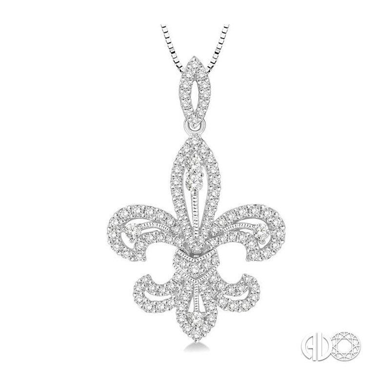 Lovebright Collection Jewelry DIAMOND FLEUR DE LIS PENDANT