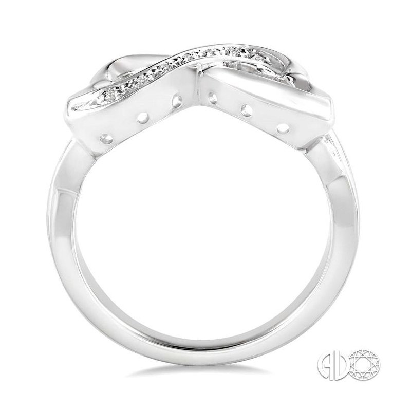 Lovebright Collection Jewelry SILVER INFINITY HEART DIAMOND RING