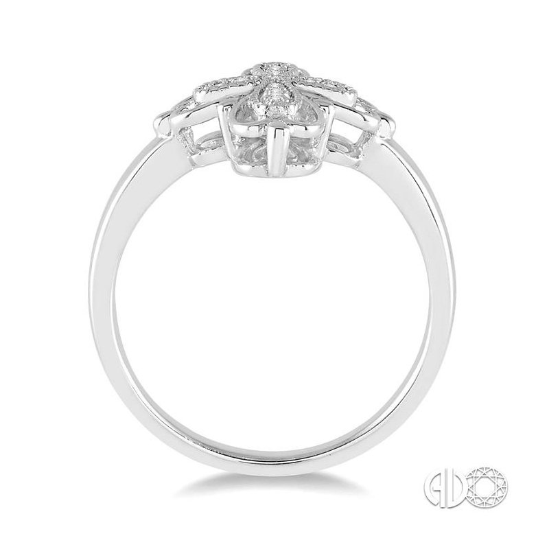 Lovebright Collection Jewelry SILVER CROSS DIAMOND RING