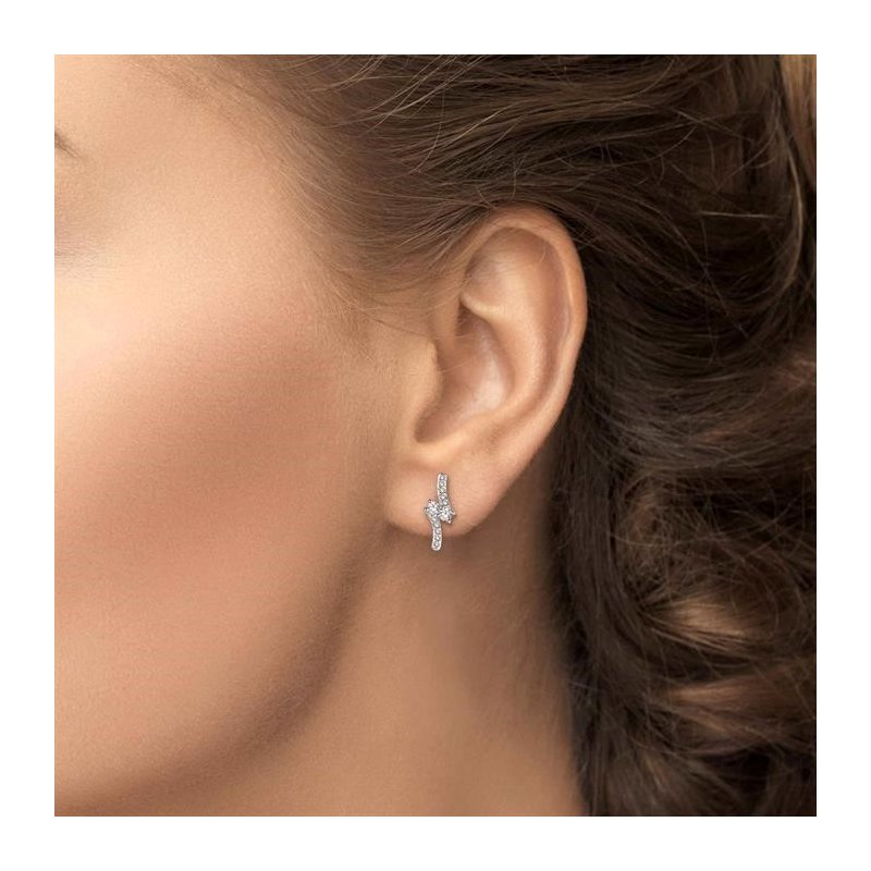 Lovebright Collection Jewelry 2STONE DIAMOND EARRINGS