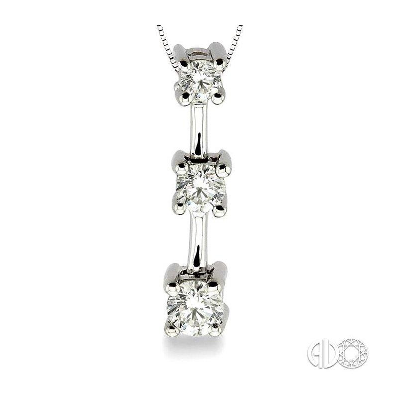 Lovebright Collection Jewelry PAST PRESENT & FUTURE DIAMOND PENDANT