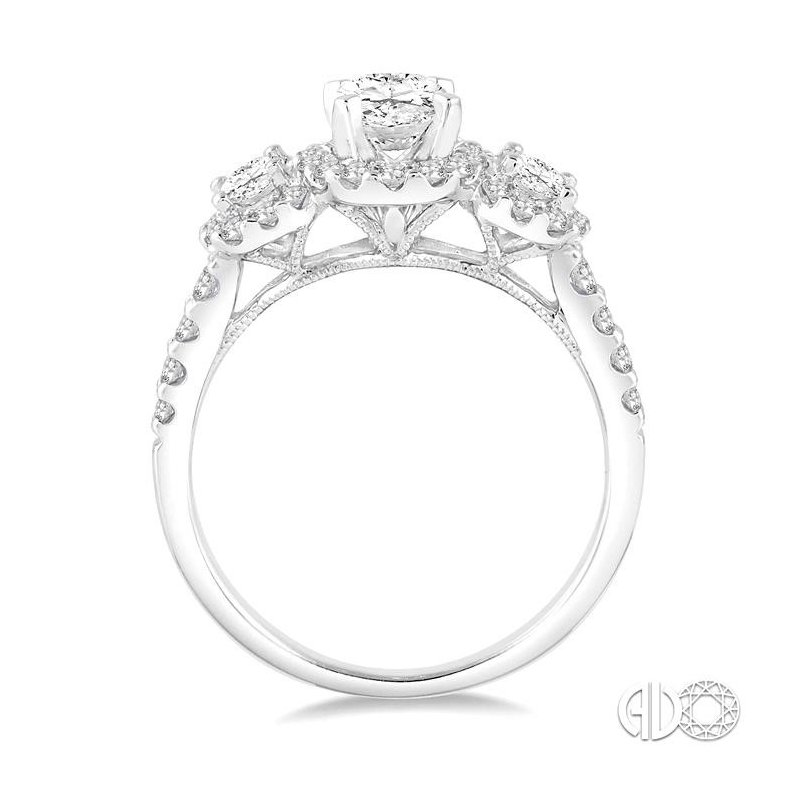 Lovebright Collection Jewelry OVAL SEMI-MOUNT DIAMOND RING