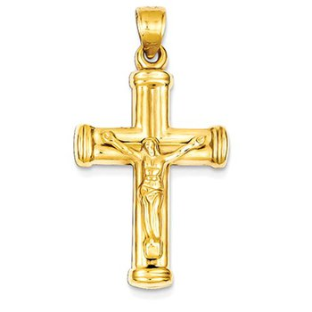 14k Reversible Crucifix /Cross Pendant