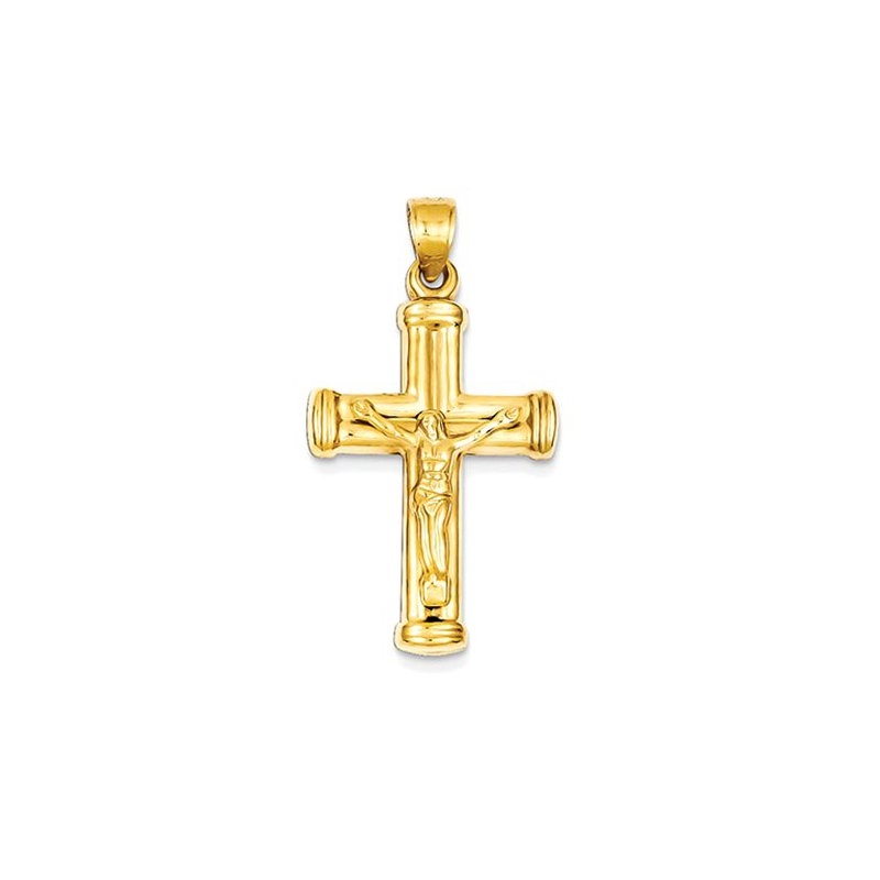 Lovebright Collection Jewelry 14k Reversible Crucifix /Cross Pendant