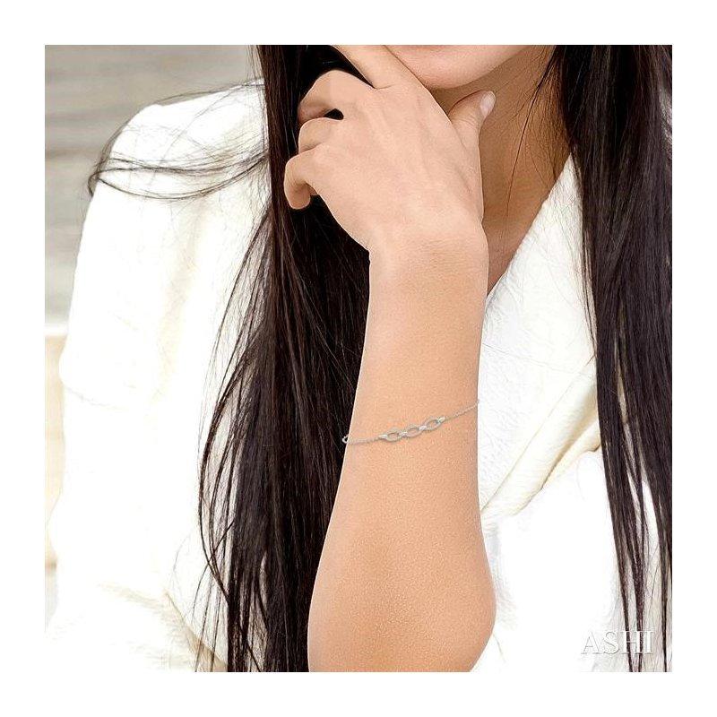 Lovebright Collection Jewelry OVAL DIAMOND CHAIN BRACELET