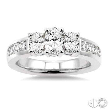 PAST PRESENT & FUTURE OVAL SHAPE DIAMOND ENGAGEMENT RING