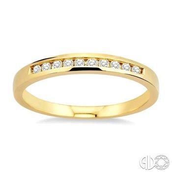 CHANNEL SET DIAMOND WEDDING BAND