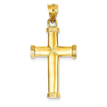 14k Polished Latin Cross Pendant