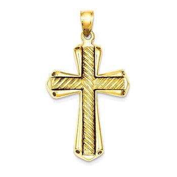 14k Twisted Cross Pendant
