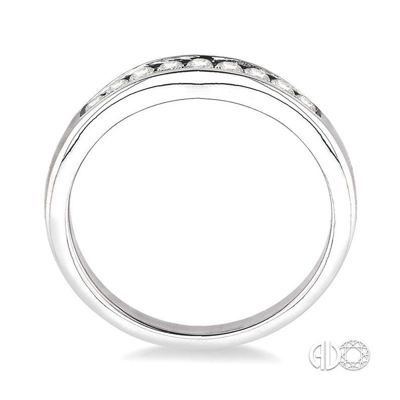 Lovebright Collection Jewelry CHANNEL SET DIAMOND CURVED WEDDING BAND