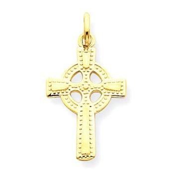 14k Celtic Cross Pendant