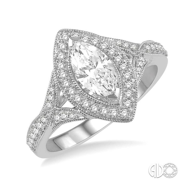 Lovebright Collection Jewelry MARQUISE SHAPE SEMI-MOUNT DIAMOND RING