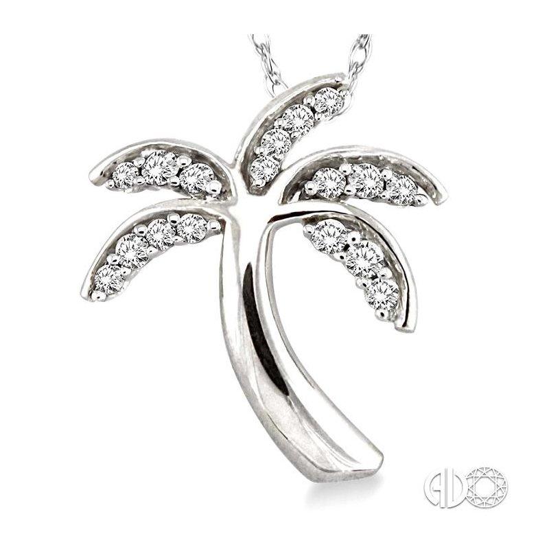 Lovebright Collection Jewelry PALM TREE DIAMOND PENDANT