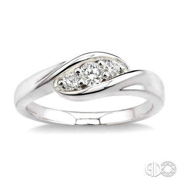 PAST PRESENT & FUTURE DIAMOND WEDDING BAND