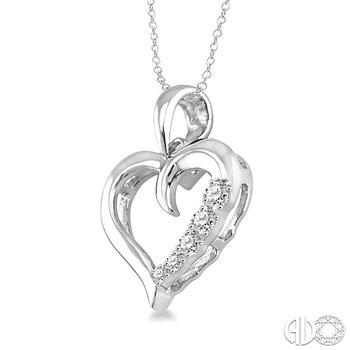 SILVER JOURNEY HEART DIAMOND PENDANT