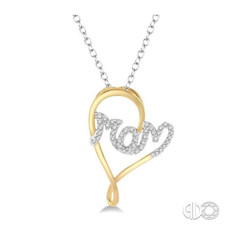 Lovebright Collection Jewelry MOM HEART DIAMOND PENDANT
