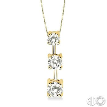 Past, Present & Future Diamond Pendant