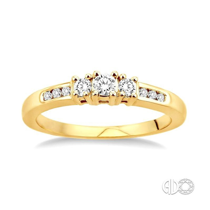 Lovebright Collection Jewelry PAST PRESENT & FUTURE DIAMOND ENGAGEMENT RING