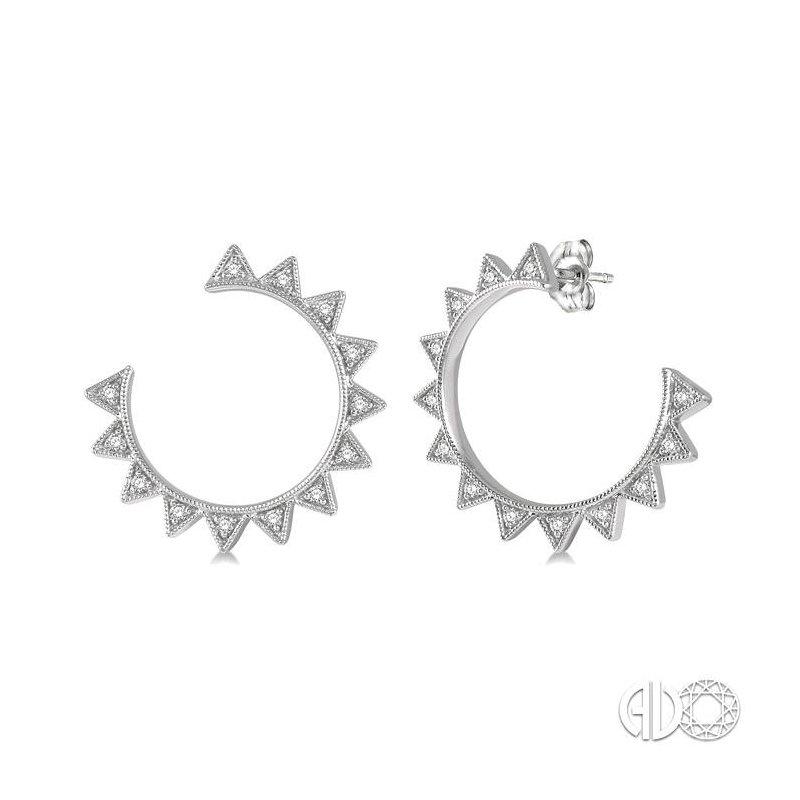 Lovebright Collection Jewelry DIAMOND HOOP EARRINGS