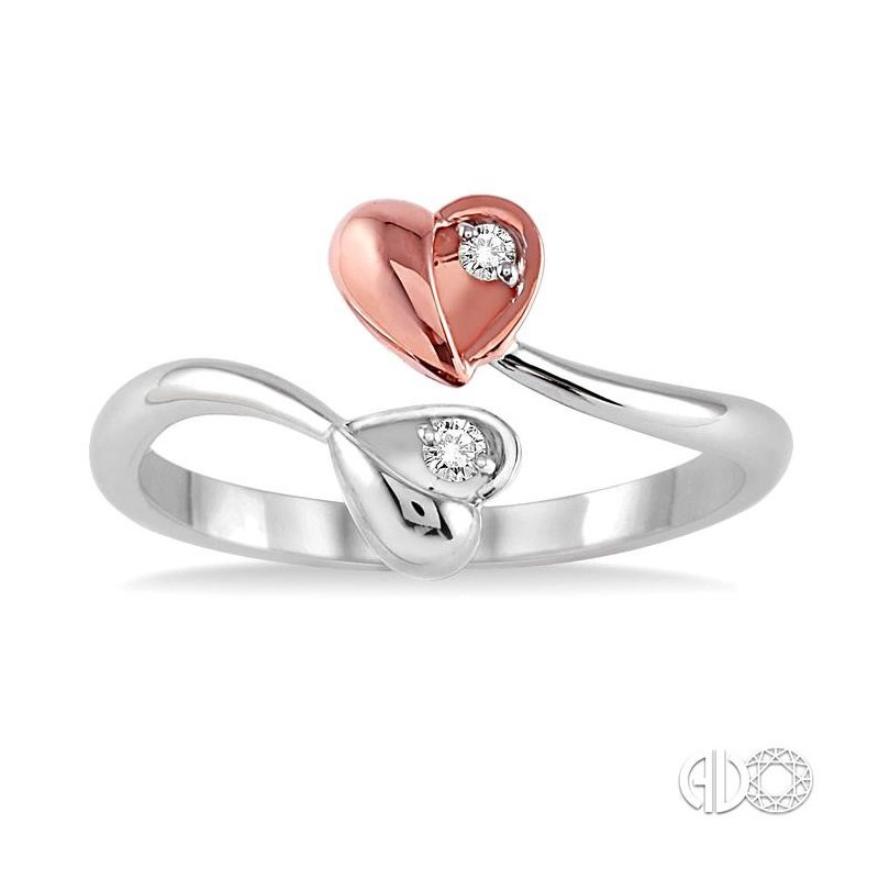 Lovebright Collection Jewelry TWIN HEART 2STONE DIAMOND RING