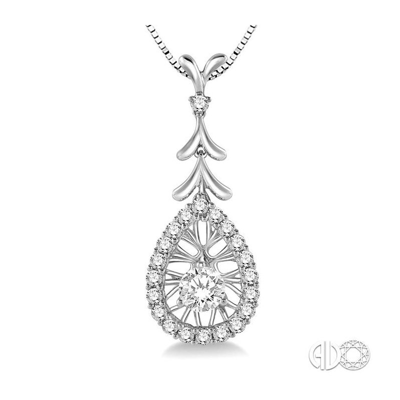 Lovebright Collection Jewelry PEAR SHAPE DIAMOND PENDANT