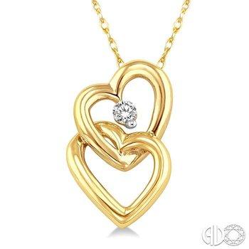 TWIN HEART DIAMOND PENDANT