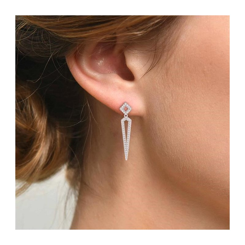 Lovebright Collection Jewelry DIAMOND LONG EARRINGS