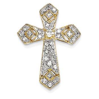 14k Passion Diamond Cross Pendant
