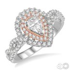 Lovebright Collection Jewelry PEAR SHAPE SEMI-MOUNT DIAMOND RING