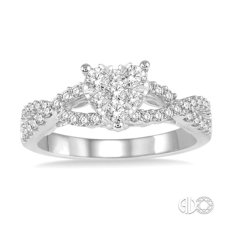 Lovebright Collection Jewelry HEART LOVEBRIGHT DIAMOND ENGAGEMENT RING