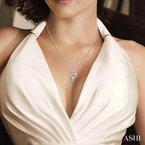 Lovebright Collection Jewelry DOUBLE HEART DIAMOND PENDANT