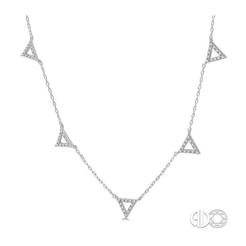 Lovebright Collection Jewelry TRIANGLE STATION DIAMOND NECKLACE