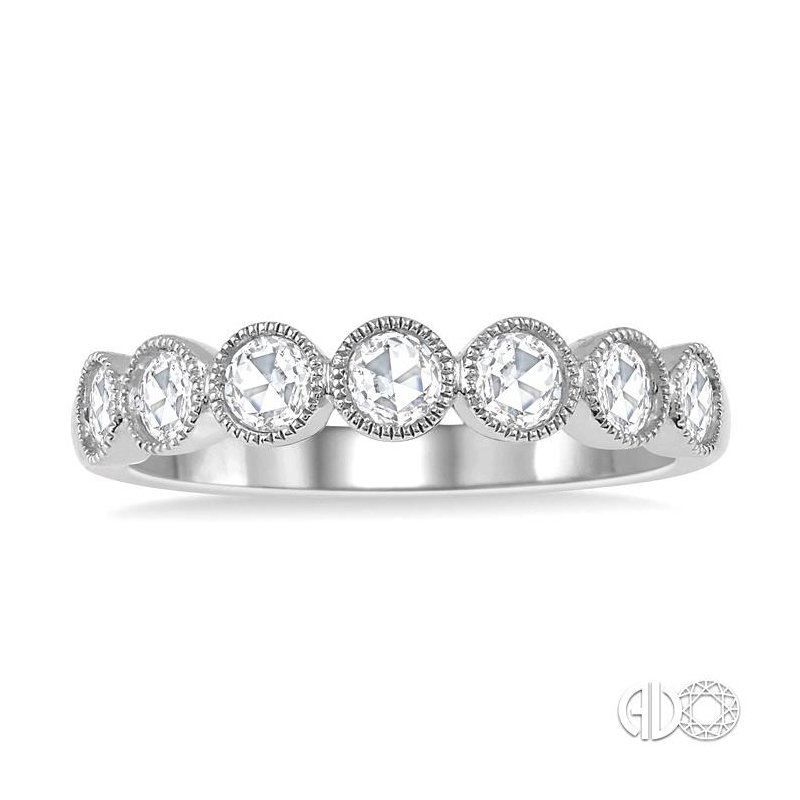 Lovebright Collection Jewelry ROSE CUT DIAMOND STACK BAND