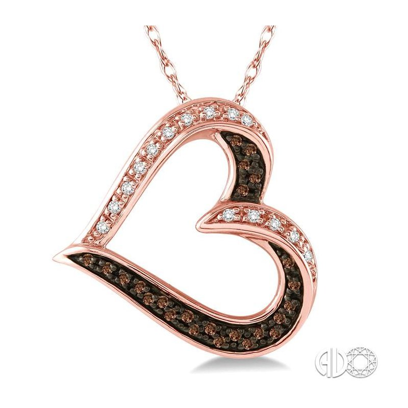 Lovebright Collection Jewelry HEART CHAMPAGNE DIAMOND PENDANT