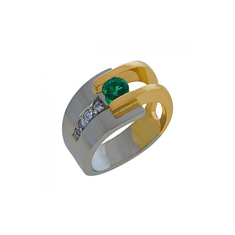 Customgold Emerald Fashion Ring