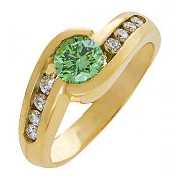 Green Diamond Fashion Ring