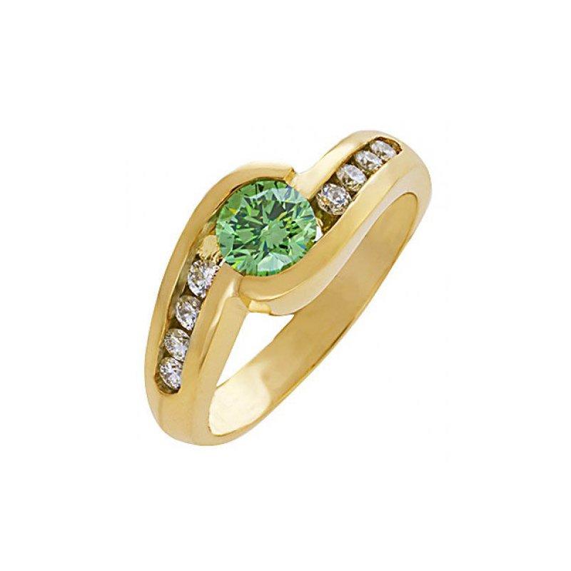 Customgold Green Diamond Fashion Ring