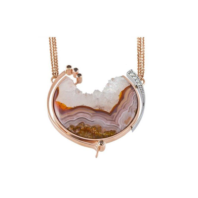 Customgold Laguna Agate Pendant