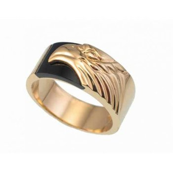 Men's Eagle Onyx Ring