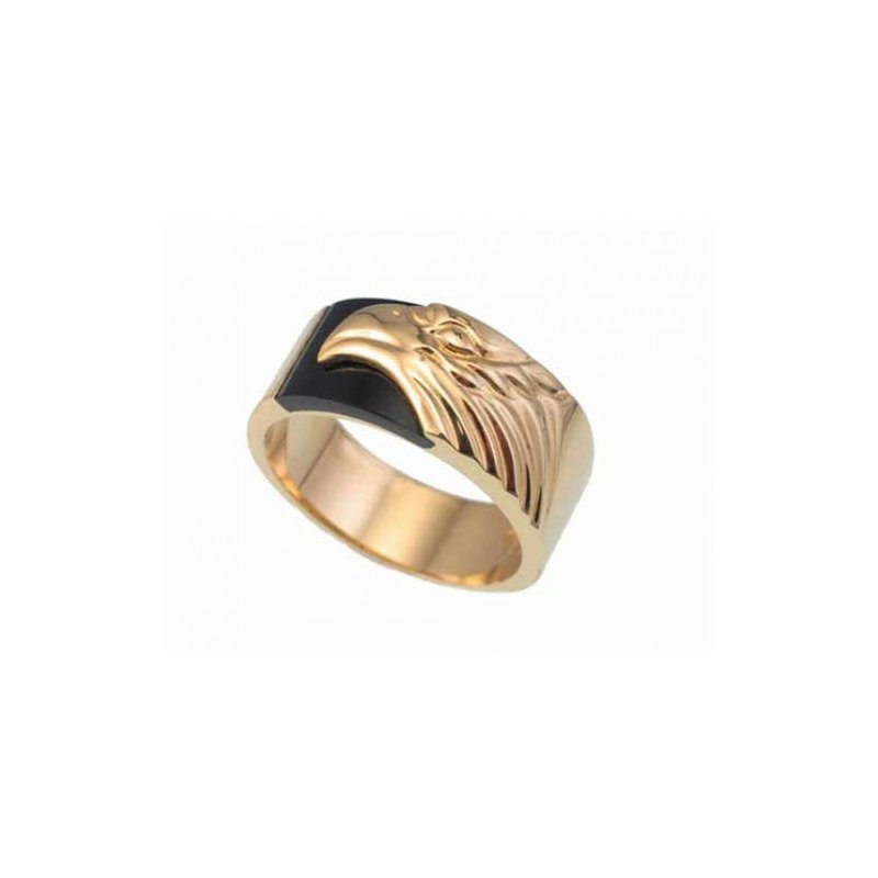 Customgold Men's Eagle Onyx Ring